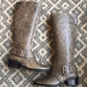 Matisse distressed tall grey boots